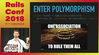 RailsConf 2018: Candy on Rails: Polymorphism & Rails 5 by Michael Cain