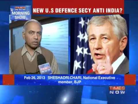 Chuck Hagel, US Defense Secretary nominees' remarks against India.