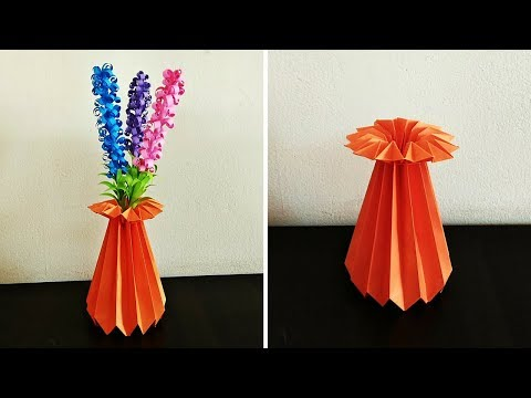 How to Make a Paper Flower Vase | DIY Simple Paper Craft | Craftastic