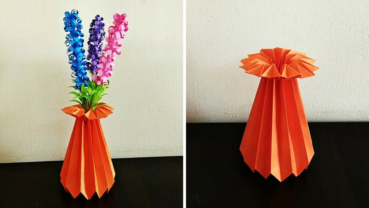 How to make a paper flower vase diy simple paper craft how to make a paper flower vase diy simple paper craft craftastic mightylinksfo