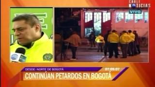 General Guatibonza: 'Explosivos tienen la intención de generar pánico y zozobra'