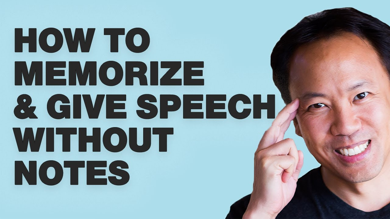 Kwik Brain Episode 11: How To Memorize & Give Speech Without Notes