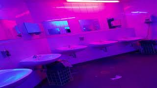 Lost by Frank Ocean but you're in the bathroom at his concert