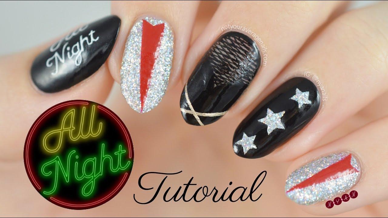 Snsd All Night Nail Art Tutorial Youtube