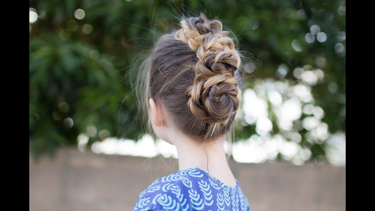 triple bun updo homecoming hairstyles