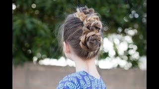 Triple Bun Updo | Homecoming Hairstyles | Easy DIY Hairstyle | Cute Girls Hairstyles