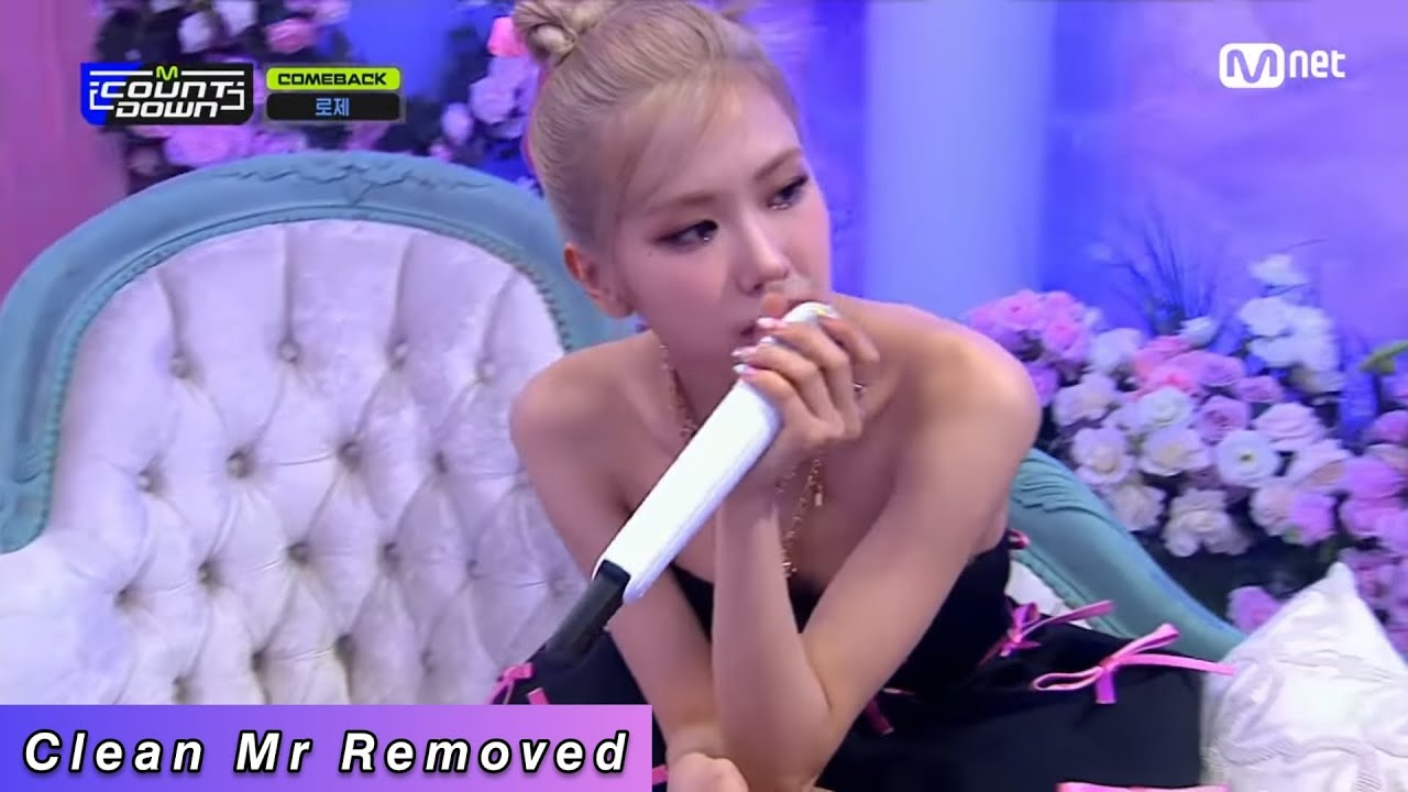 Download [CLEAN MR REMOVED] [ROSÉ - Gone] Comeback Stage | M COUNTDOWN EP.702 | Mnet 210318 방송