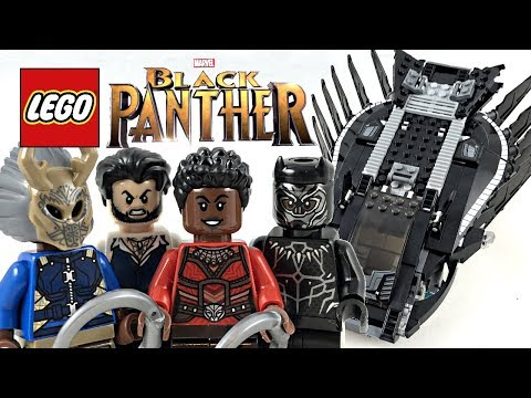 LEGO Black Panther Royal Talon Fighter Attack review! 2018 set 76100!