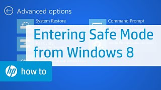 Entering Safe Mode from Windows 8 | HP Computers | HP