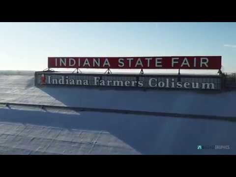 Indiana State Fairgrounds Drone Flight - Indianapolis, IN