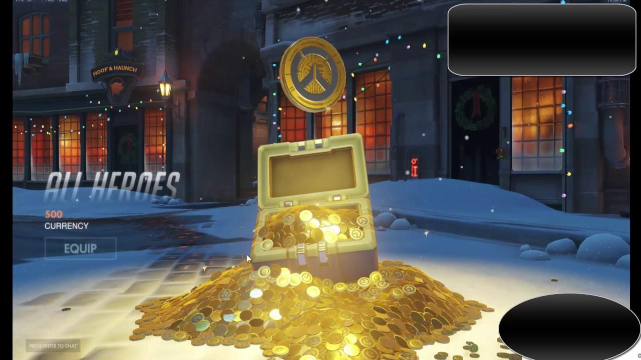 Overwatch - 5 Christmas 2016 Gift Loot Boxes - YouTube