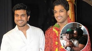 Ram Charan and Allu Arjun Unseen & Rare Photos
