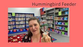 Hummingbird Feeder:  A Make-it Video with Manor Public Library - 4/27/21