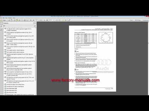 Repair Manual audi A6 4f mit Vcds