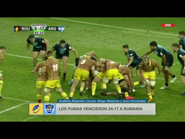 Los Pumas vencieron a Rumania con lo justo