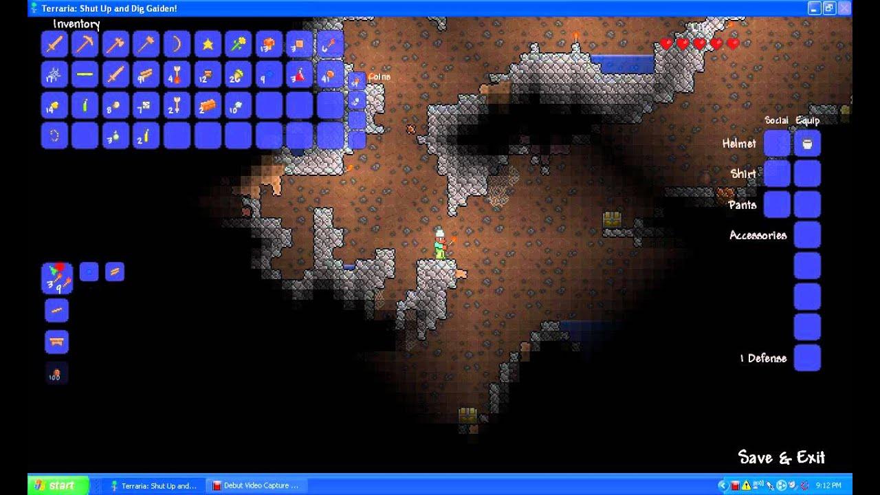 Terraria Ep2 Smelting ore!