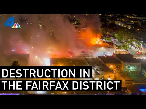 Daylight Reveals The Extent Of Destruction In Fairfax District | NBCLA