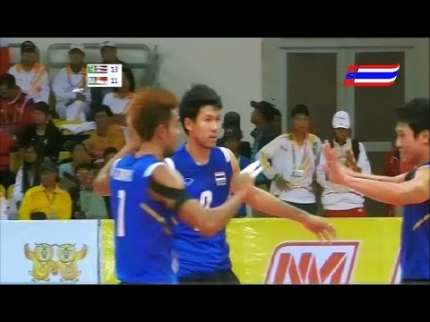 Thailand - Indonesia Men's Volleyball 27th SEA Games 2013 Gold Medal Match