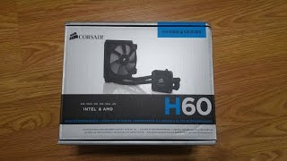 corsair hydro series h60 review and comparison