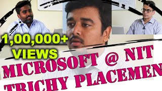 NIT Trichy Campus Placement - Microsoft Job Interview - Mohit Agrawal - Re-enactment
