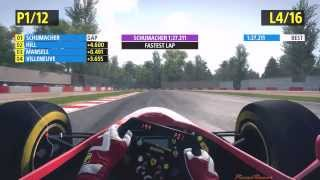 F1 2013 PC Gameplay, Classic Edition, Ferrari F310, Imola Race 25%, by PixxelRacer