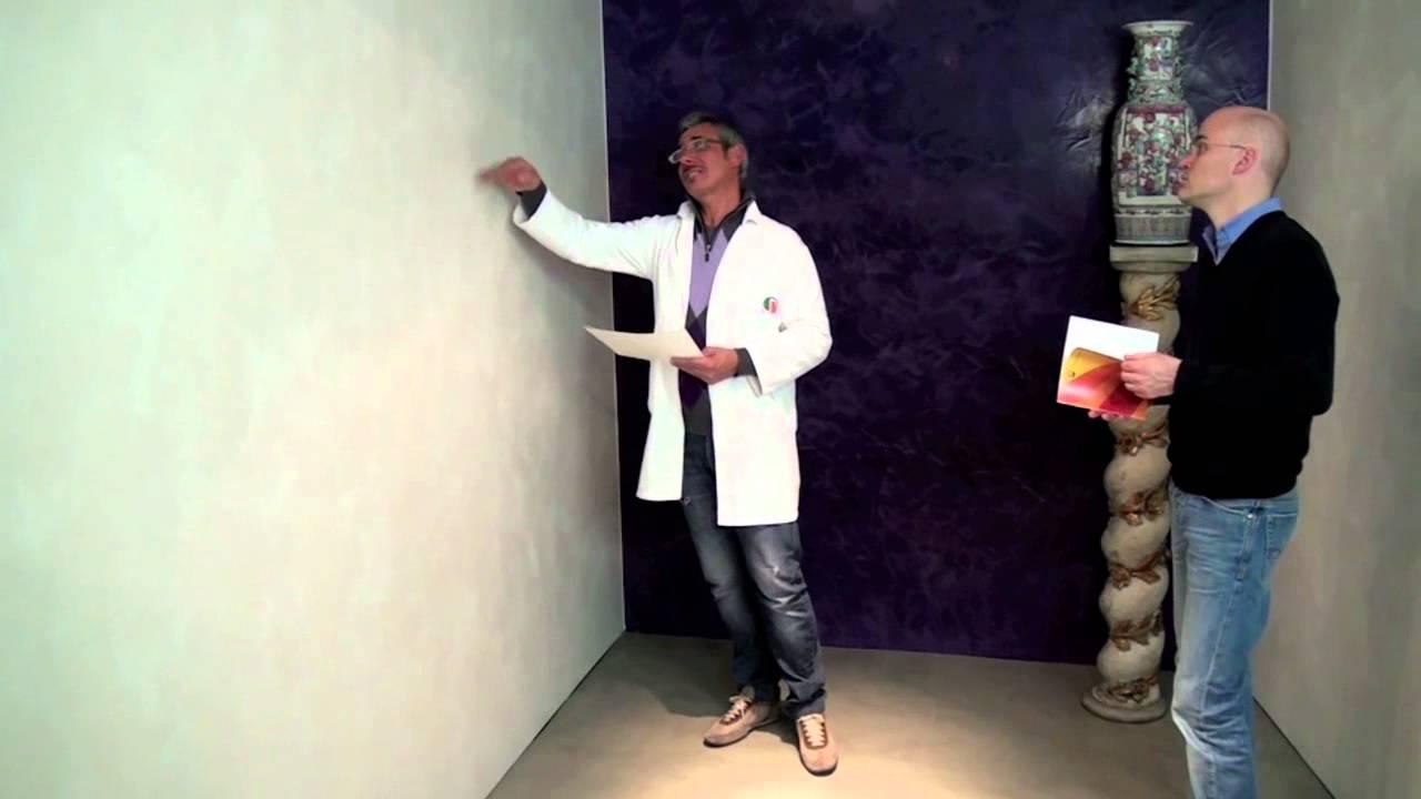 Pittura ticino decorativo effetto perlato youtube for Pareti avorio perlato