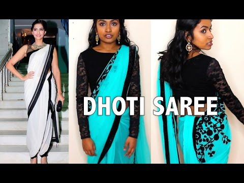 How to Drape a Dhoti Style Saree (Sonam Kapoor inspired) | Thuri Makeup