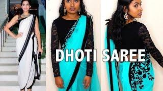 How to Drape a Dhoti Style Saree (Sonam Kapoor inspired) | Thuri Makeup