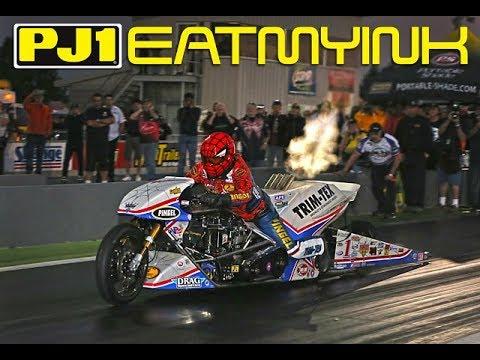 Larry 'Spiderman' McBride 5.61 World Record Top Fuel Motorcycle