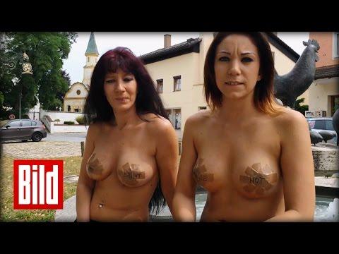 Nackt-Protest in Bayern – Erotik-Mobbing gegen Web-Cam-Girls ( Sex / Demo )