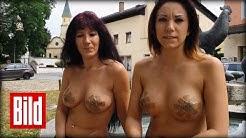 Nackt-Protest in Bayern - Erotik-Mobbing gegen Web-Cam-Girls ( Sex / Demo )