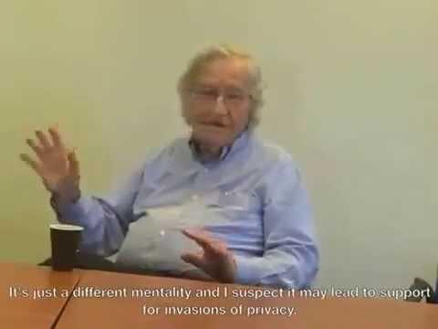 Noam Chomsky 2013 on  Google Glass, NSA, Privacy, and more
