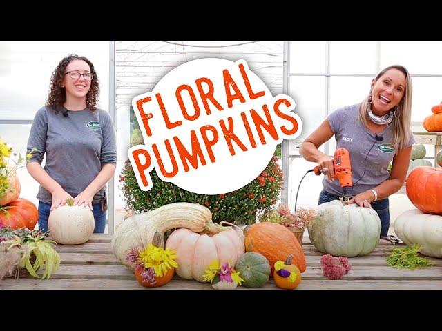 Easy Floral Pumpkin DIY
