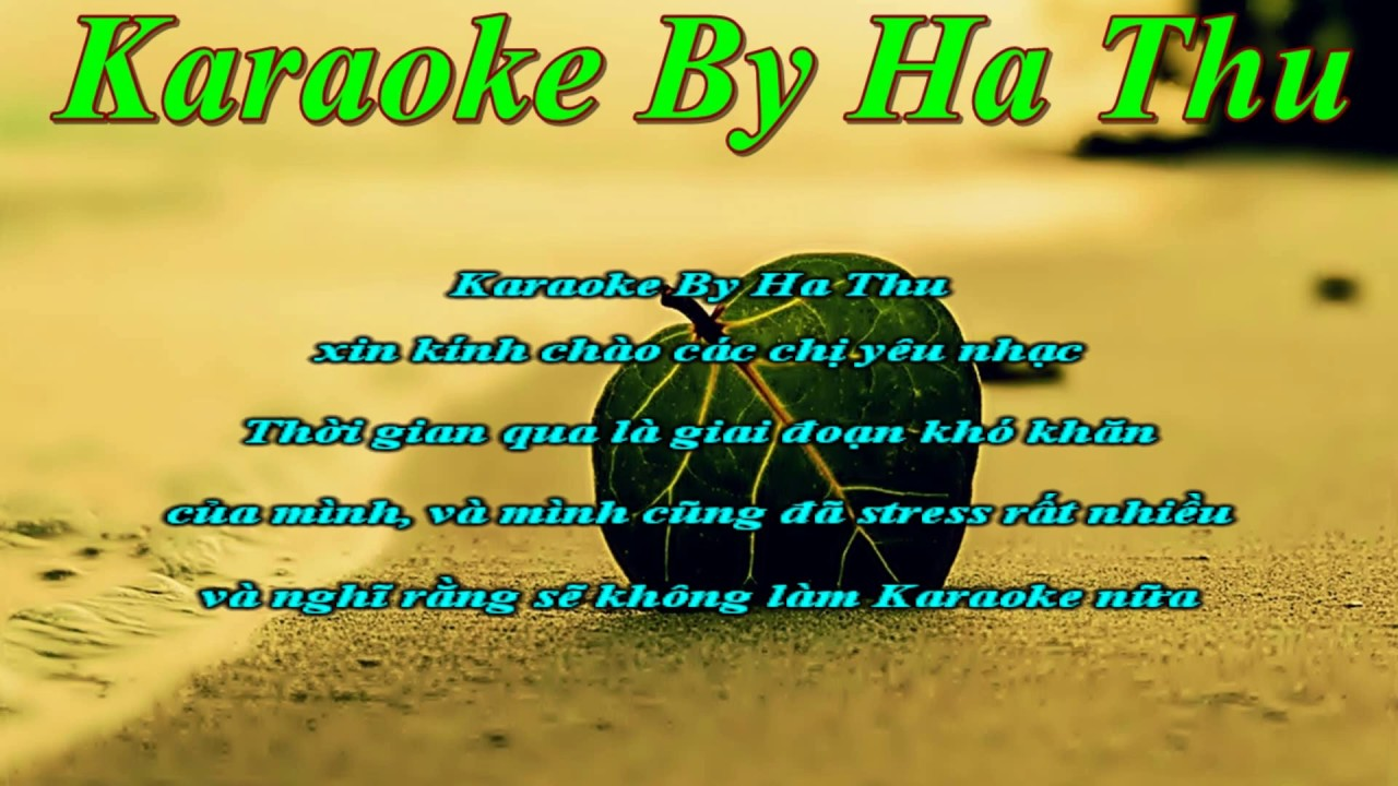 Karaoke Nhạc Sống Tone Nữ | Karaoke By Ha Thu