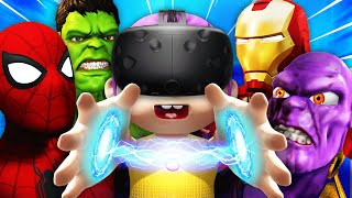 SUPERHERO BABY Summons THE AVENGERS In VR (Baby Hands VR Funny Gameplay)