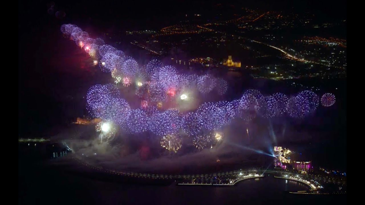 New Year's Eve Firework Display Breaks Two Guinness World Records