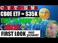 CBOE BTC ETF - NEO STILL CENTRALISED - VITALIK HATES BINANCE - WEPOWER PLATFORM LAUNCH