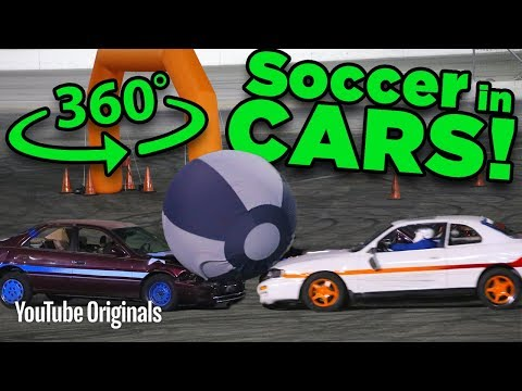 Playing SOCCER With CARS In 360 (Rocket League) - Game Lab 360 Video