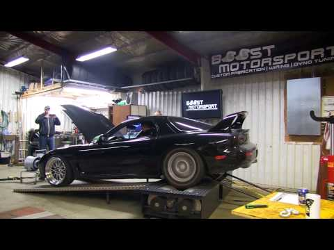 Dyno day at Boost Motorsport rx7 2jz swap and a single turbo 13b fd3s