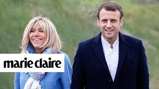 Story Behind French President-elect Emmanuel Macron & Brigitte Trogneux's Marriage | Marie Claire