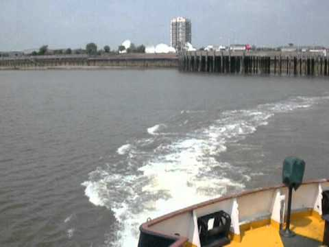 Crossing The Thames On The Woolwich Ferry