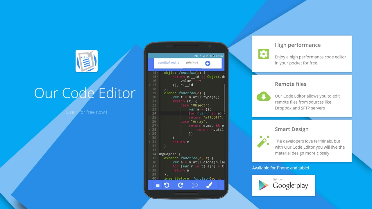 Our Code Editor 2017   Code and Text editor for Android