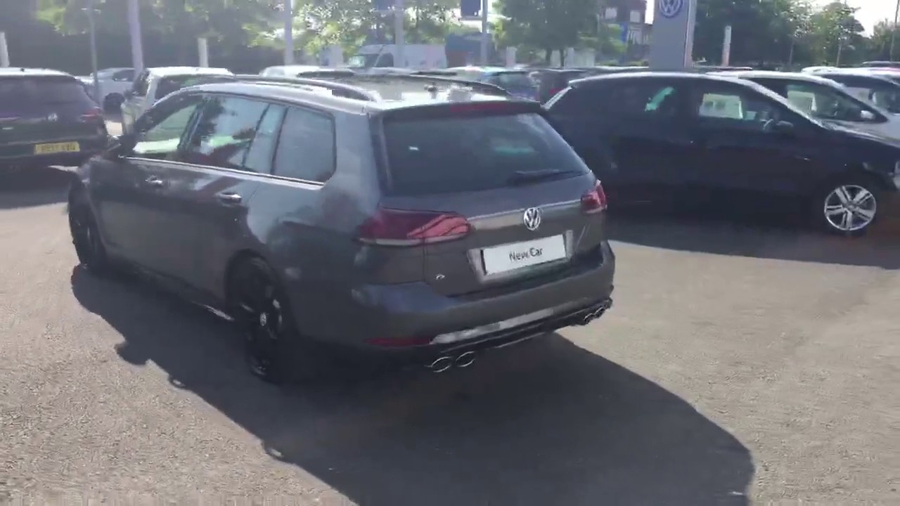 Brand New Volkswagen Golf R Estate 310ps In Indium Grey