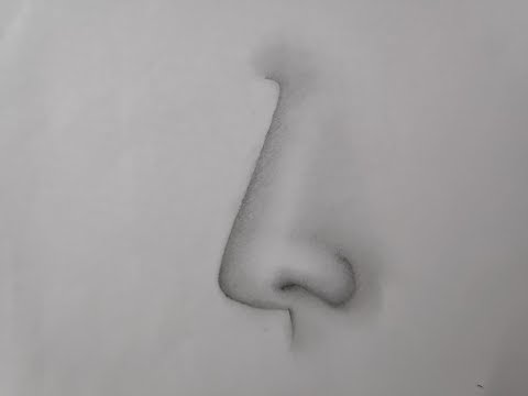 How to draw nose (step by step tutorial for sketching) thumbnail