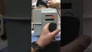 Как остановить счетчик газа ITRON G-6 RF1 iVpsc