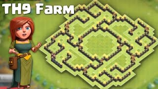 Town hall 9 (TH9) Farming Base 2016 (The slit 2) -  Protect both Resources/TH + Defense replays