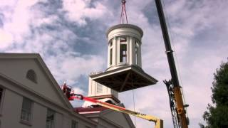 Cupola Install First Presbyterian Church West Chester, Pa