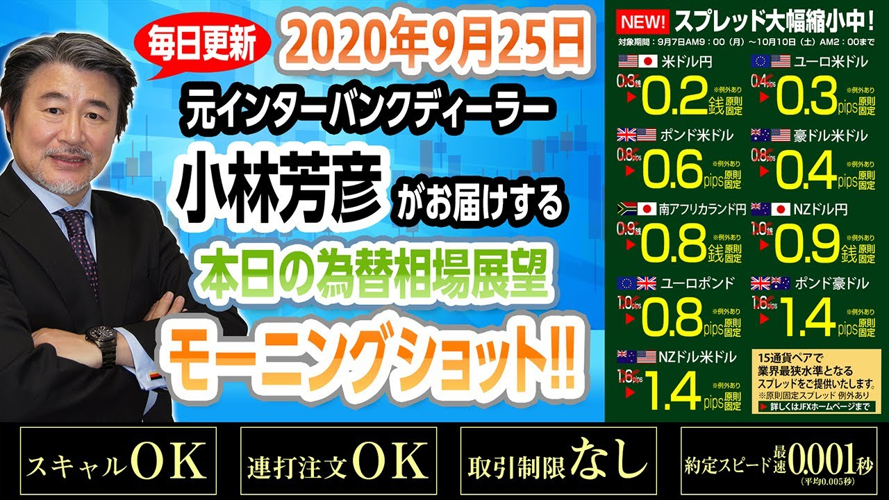 JFX小林芳彦のモーニングショット【20200921】