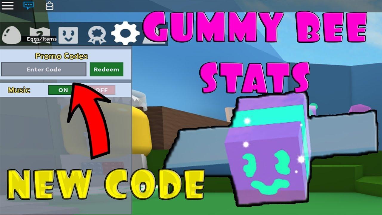 Gummy Bee Stats New Code Bee Swarm Simulator Roblox Youtube