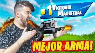 VICTORIA CON LA MEJOR ARMA DE FORTNITE BATTLE ROYALE
